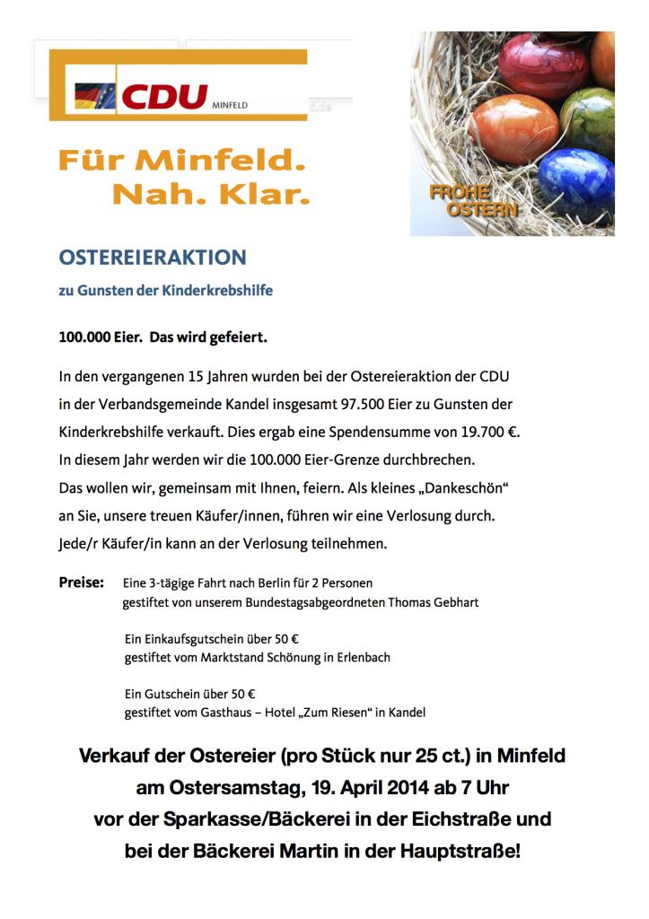 Flyer Ostereierverkauf CDU Minfeld 2014